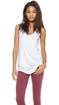 Three Dots Scoop Neck Tank