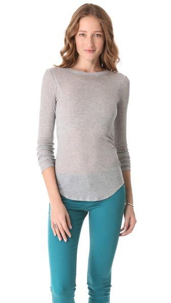 Three Dots Shirttail Hem Top