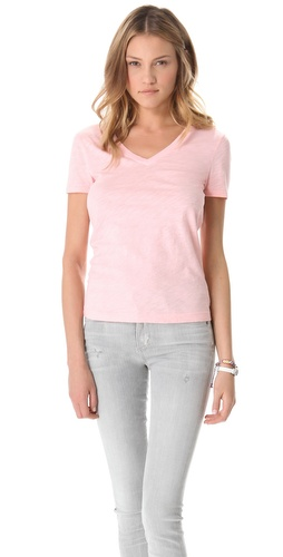 Three Dots V Neck Tee at Shopbop.com