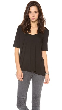Three Dots Relaxed High Low Tee