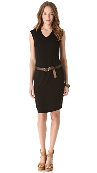 Three Dots V Neck Shift Dress