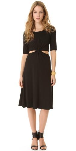 Three Dots Minnie Mortimer Cutout Twist Dress