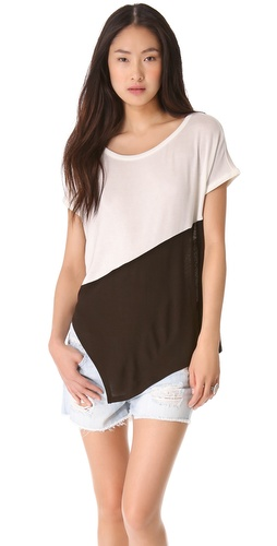 Three Dots Asymmetrical Contrast Top