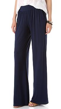 Three Dots Viscose Lycra Relaxed Pants