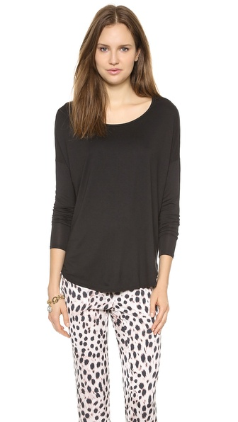 Three Dots Relaxed Shirttail Top