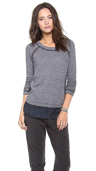 Three Dots Sweater with Chiffon