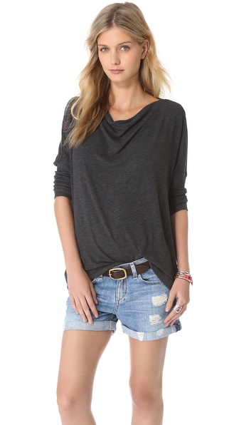 Three Dots Relaxed Drop Shoulder Top