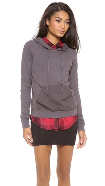 Three Dots Kangaroo Pocket Hoodie