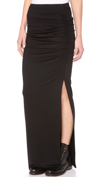 Three Dots Ruched Maxi Skirt