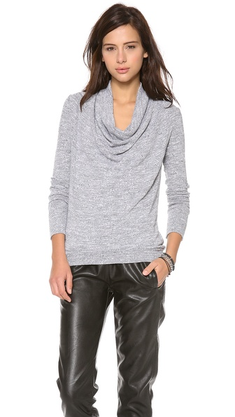 Three Dots Long Sleeve Cowl Sweater