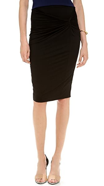 Three Dots Twist Front Skirt