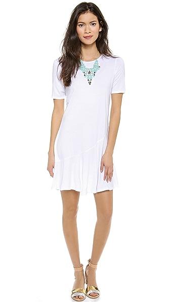 Three Dots Short Sleeve Scoop Neck Dress