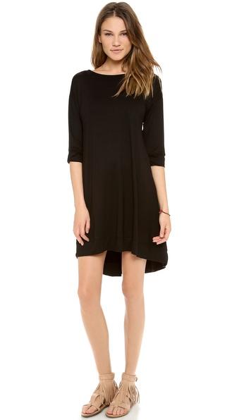 Three Dots 3/4 Sleeve Fish Tail Dress