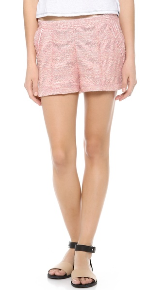 Three Dots Nautical Boucle Shorts