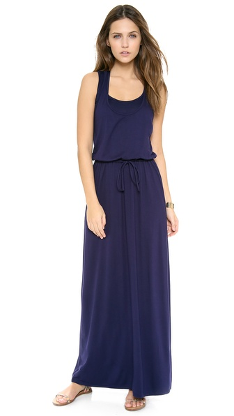 Three Dots Drawstring Maxi Tank Dress