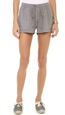 Three Dots Drawstring Shorts with Pockets