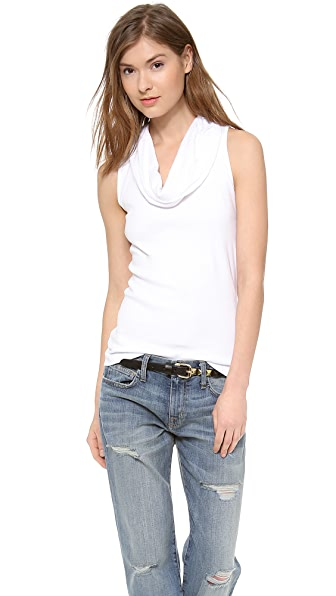 Three Dots Sleeveless Cowl Neck Tank