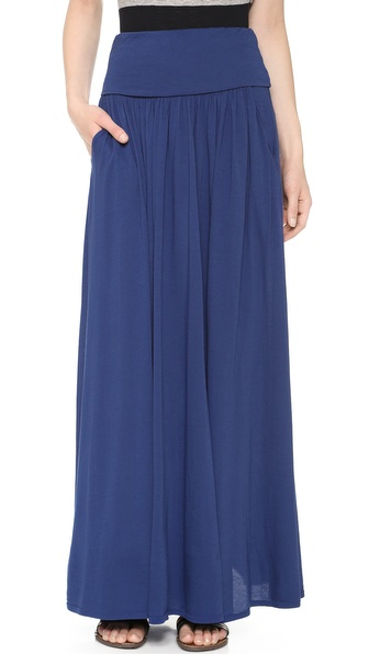 Three Dots Fold Over Maxi Skirt