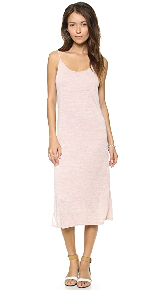 Three Dots Eva Slub Midi Dress