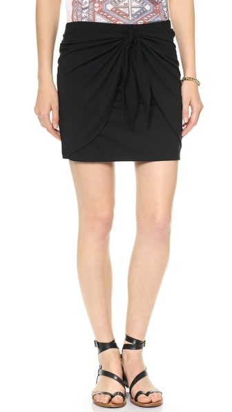 Three Dots Tie Front Skirt