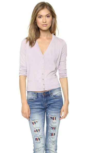 Three Dots Colette Cropped Cardigan