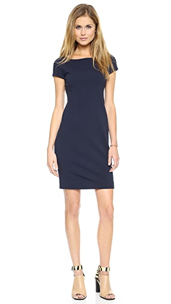 Three Dots Ponte Cap Sleeve Dress