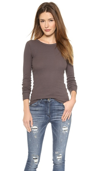 Three Dots Thermal Crew Neck Top
