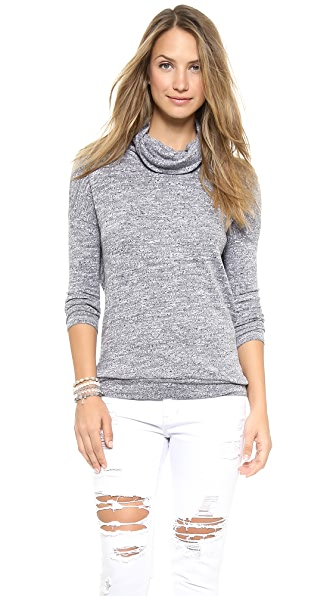Three Dots Oversized Slub Sweater