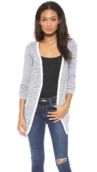 Three Dots Slub Sweater Cardigan