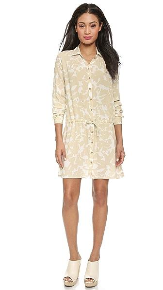 Kupi Three Dots haljinu online i raspordaja za kupiti Three Dots Long Sleeve Shirtdress Caribbean Sand online