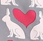 Love Bunny/Red Trim