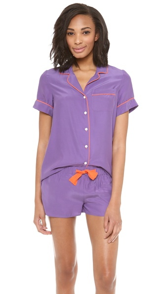 Three J NYC Belle Silk Short PJ Set