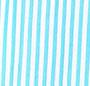 Teal Stripe/White Trim