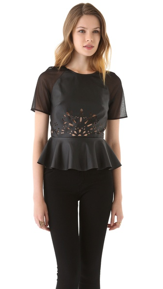 Three Floor Tough Love Peplum Top