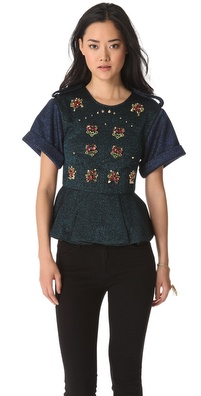 Three Floor Sensation Peplum Top