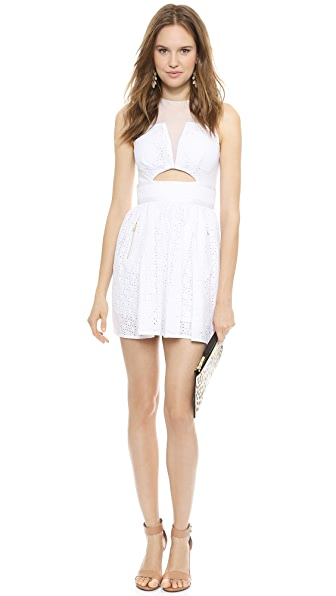Three Floor Precisely White Dress