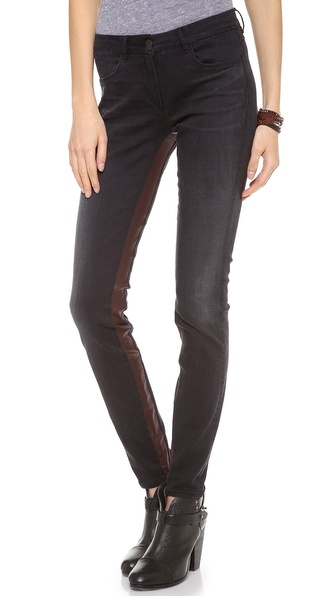 3x1 Channel Seam Skinny Jeans