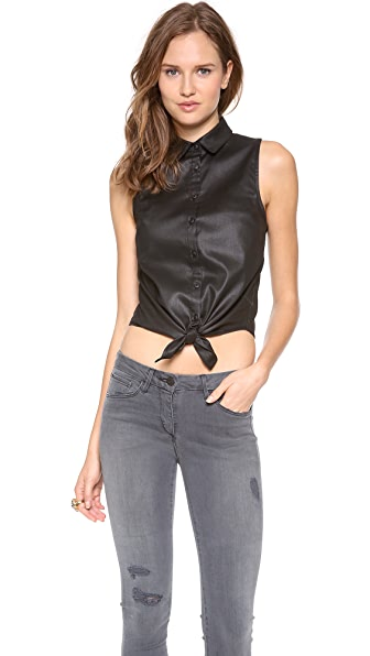 3x1 Natalie Tie Front Blouse