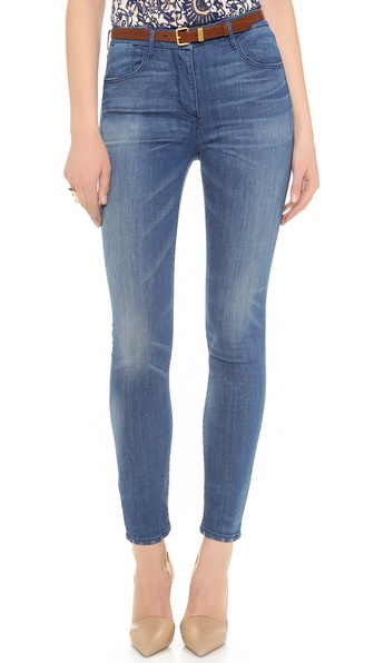 3x1 Distressed Channel Seam Skinny Jeans