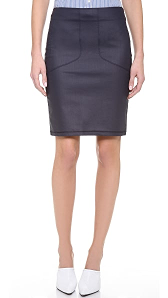 3x1 Moto Pencil Skirt