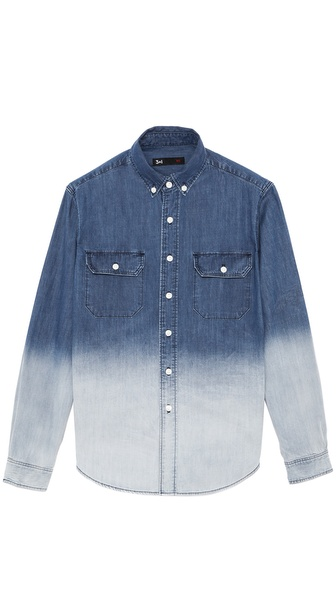 3x1 Dark Ombre Denim Work Shirt