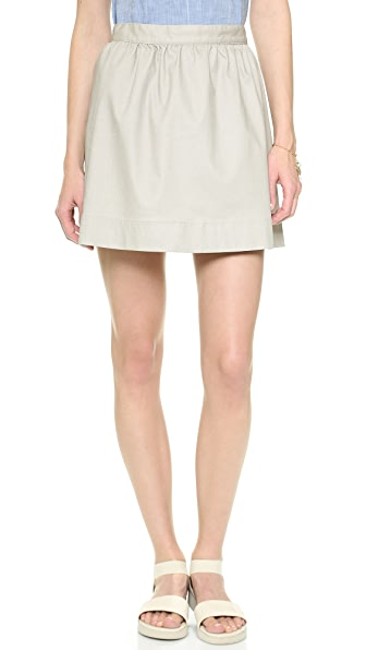 3x1 Coated Miniskirt