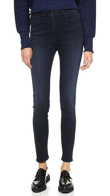 3x1 W3 高腰 Channel 接缝紧身牛仔裤