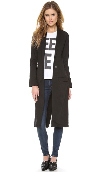 THVM Behati Black Long Coat