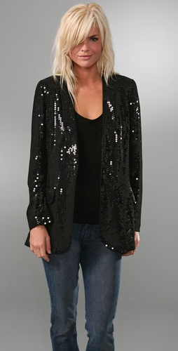 Tibi Sequin Blazer