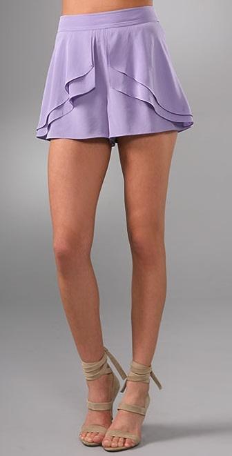 Tibi Ruffle Shorts