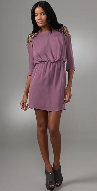 Tibi Nile Beaded Short Dress