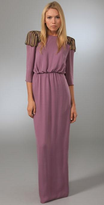 Tibi Nile Beaded Long Dress