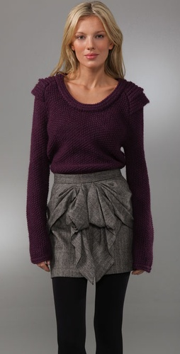 Tibi Pullover Sweater with Shoulder Detail