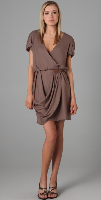 Tibi Angle Draped Dress